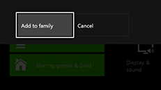 You can't add someone to your family on Xbox One