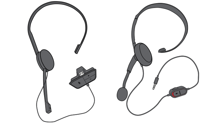 Image shows the audio dongle end of the headset.
