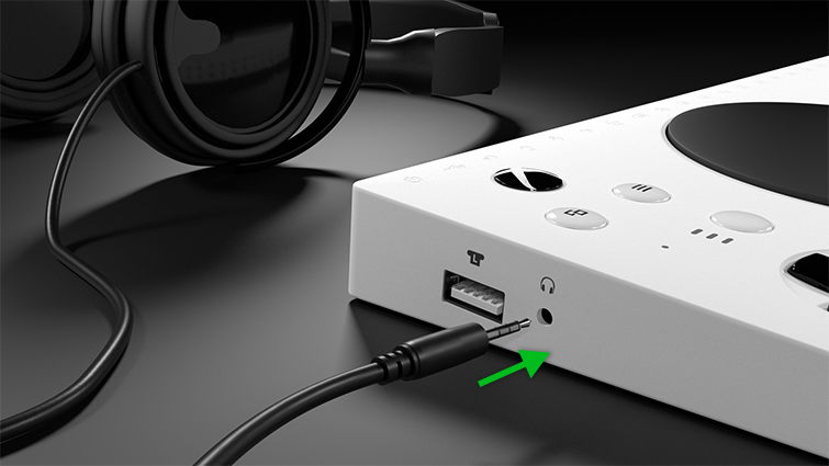 Stereo audio headset connection to Xbox Adaptive Controller