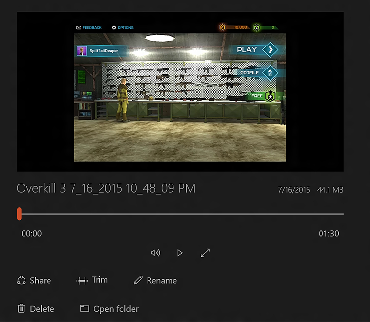 Edit and Share Game Clips with Game DVR   Windows 10
