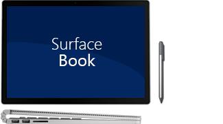 Surface Book – Front- und Seitenansicht