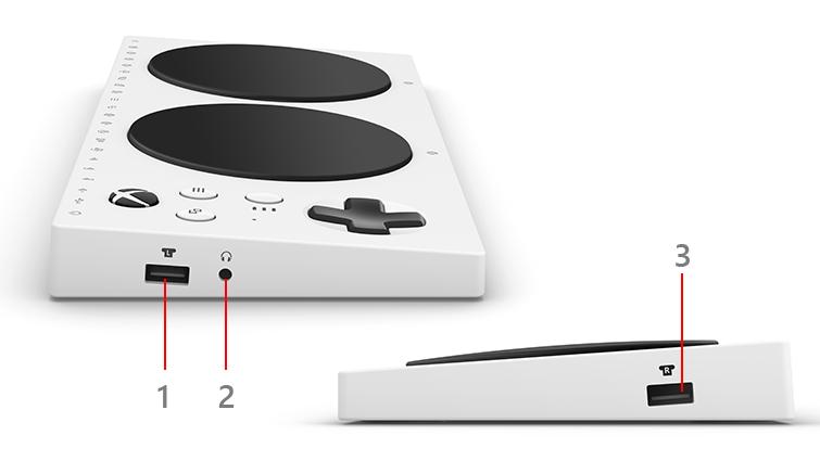 Xbox Adaptive Controller の側面