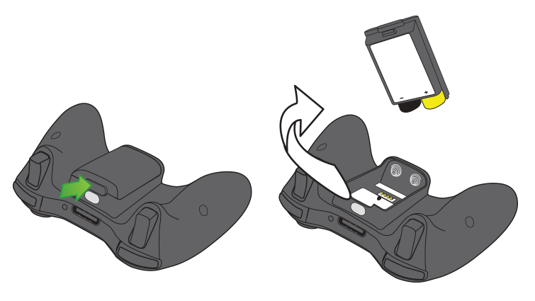 An illustration shows how to remove the battery pack from an Xbox 360 Wireless Controller.