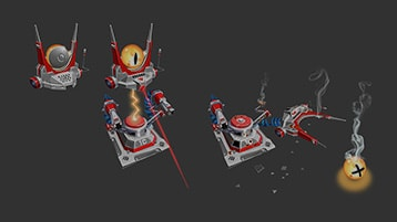 A still image from the Young Conker Tower destruction video with play icon
