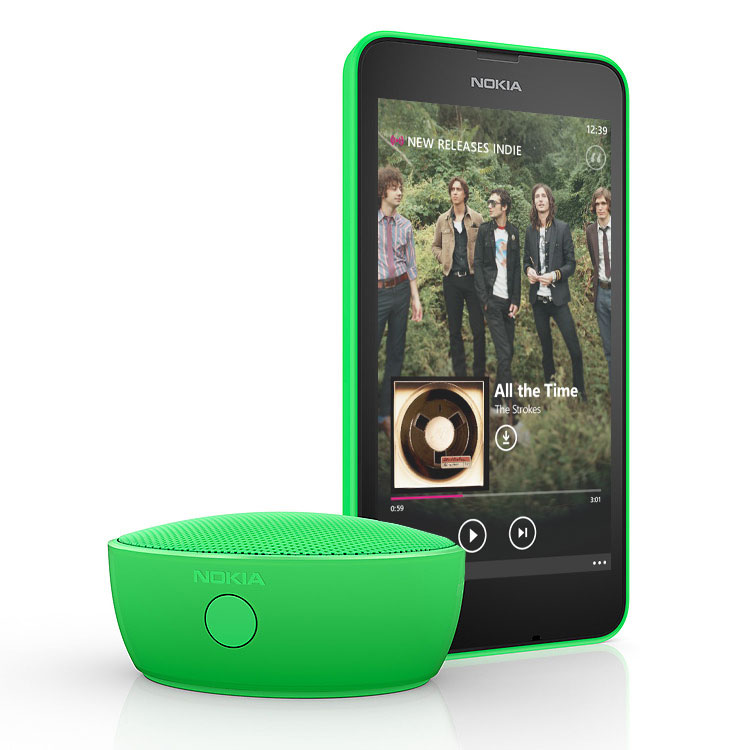green nokia portable wireless speaker with green lumia phone - Portable