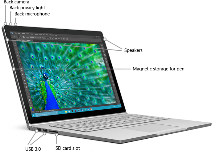 Image result for surface book ports