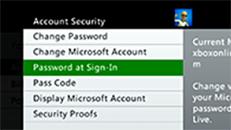 Gestire le preferenze di accesso sulla console Xbox 360