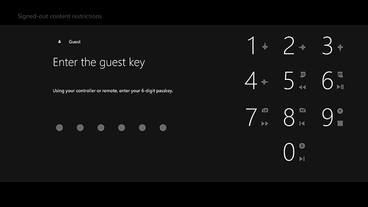 The 'Enter the guest key' screen includes a key pad.
