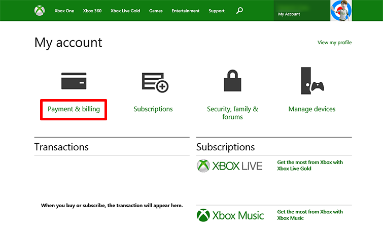 Update your Xbox...T Mobile Payment Address