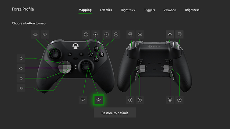 """Xbox Accessories mapping screen"""